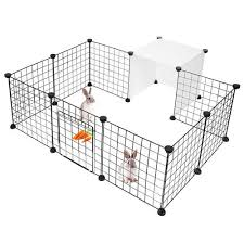 Pet Playpen Small Animal Cage Indoor Portable Metal Wire Yard Fence Large Diy Livingbasics
