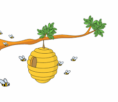 Animals Animated Clipart: bee_hive_animation_5C | Animated bee ...