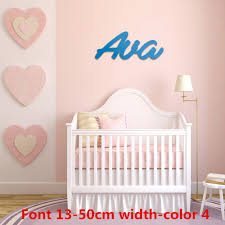8 24 Custom Name Sign Wood Name Sign Nursery Signs Nursery Letters Script Font Children S Room Wall Decoration Buy At The Price Of 13 02 In Aliexpress Com Imall Com