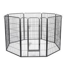 47in Tall 8 Panel Metal Outdoor Indoor Dog Playpen Run Fence Kennel Walmart Com Walmart Com