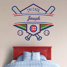 Chicago Cubs Personalized Name Wall Decal Shop Fathead For Wall Art Decor Cubs Room Chicago Cubs Cubs Decor