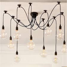 loft black spider pendant lights
