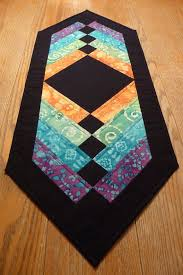 tropical quilted table runner table
