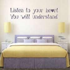 Amazon Com Quote Wall Decals Listen To Your Heart Vinyl Wall Decals Teenage Girls Room Decor Master Bedroom Wall Art Pocahontas Friendship Gift Handmade