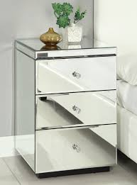 rio crystal mirrored bedside table