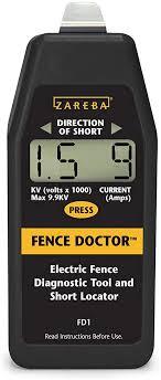 Amazon Com Zareba Fd1 Fence Doctor Digital Fence Tester And Fault Finder Livestock Enclosure Equipment Garden Outdoor