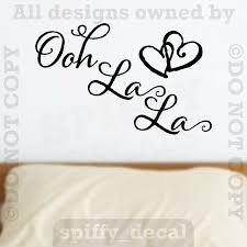 Dnven 20 W X 14 H Oh Lala Pvc Wall Stickers Ooh La La Paris France Hearts Love For Sale Online Ebay