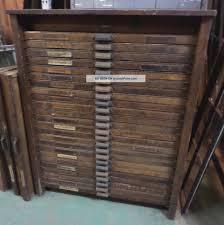24 drawer hamilton letterpress cabinet