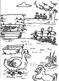 Dieren Een Dag Op De Boerderij Kleurplaten