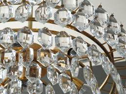 crystal chandelier with brass frame