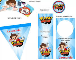 Kit Imprimible Yo Kai Watch Invitaciones Cotillon Cumpleano
