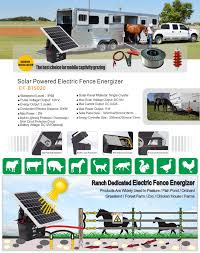 Solar Powered Electric Fence Energizer Electric Fence Energizer Rear View Camera Monitor Systems Led Work Lights Led Beacon Warning Lights Electric Fence Energize Veise