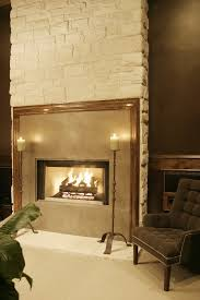cultured stone fireplace living room