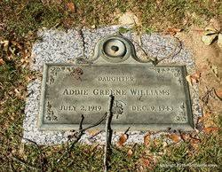 Addie Greene Williams (1919-1943) - Find A Grave Memorial