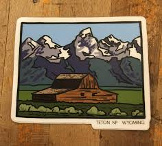 Grand Teton National Park Sticker Made