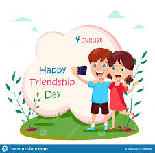 Happy Friendship Day Concept. Boy And ...