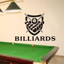 Billiards Sticker Snooker Decal Posters Vinyl Wall Decals Decor Room Decoration Mural Bar Billiards Wall Decal Wall Stickers Aliexpress