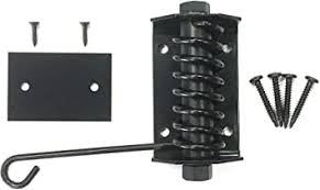 Amazon Com Gate Shut Flat Gate Closer Powder Coated Self Closing Adjustable Gate Closer For Wood Gates Home Improvement