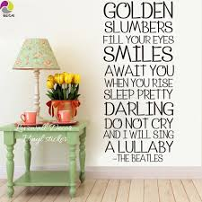 The Beatles Song Lyrics Wall Sticker Bedroom Room Golden Slumber Inspiration Song Lyrics Wall Decal Living Kid Room Vinyl Decor Wall Sticker Wall Stickers Bedroomstickers Bedroom Aliexpress