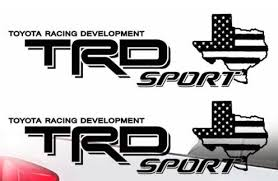 Toyota Trd Sport Texas Flag Tacoma Tundra Truck Pair Decals Vinyl Decal 2
