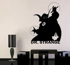 Amazon Com Marvel Comics Wall Vinyl Decal Dr Strange Hero Logo Wall Art Superhero Vinyl Sticker Decor For Home Childroom Design Bedroom Poster Mar7 22x29 Kitchen Dining