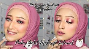 pinky gold makeup tutorial msian