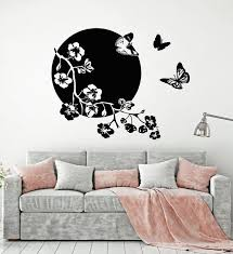 Vinyl Wall Decal Japanese Decor Butterflies Sakura Tree Stickers Mural Wallstickers4you