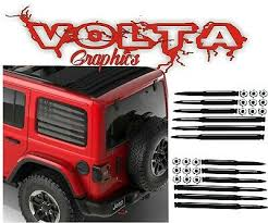 Vinyl Decals Compatible With Jeep Wrangler Jk Rear Window American Flags Ebay