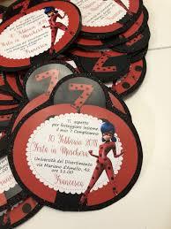 Invito Ladybug Invitaciones Tarjetas De Invitacion Cumpleanos