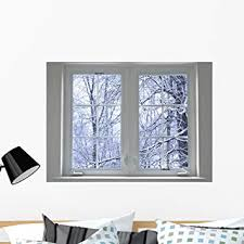 Amazon Com Wallmonkeys Winter Window Wall Decal Peel And Stick Graphic Wm103176 36 In W X 26 In H Home Kitchen