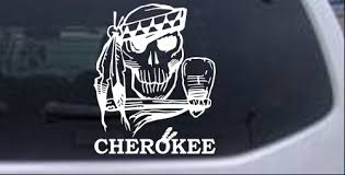 Cherokee Indian Skull Decal Car Or Truck Window Decal Sticker Rad Dezigns
