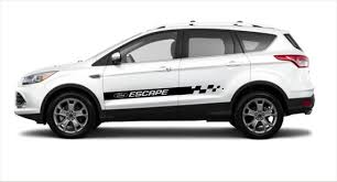 Ford Escape 2x Side Stripes Vinyl Body Decal Sticker Logo Etsy