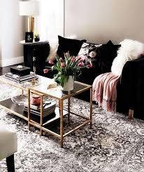 39 ideas black couch living room decor