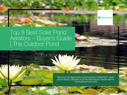 top 8 best solar pond aerators 2020