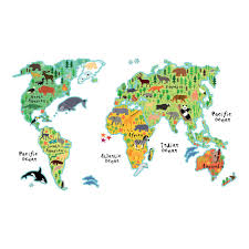 Brewster 26 4 In X 37 In Kids World Map Wall Decal Cr 18301 The Home Depot