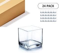 wgv cube glass vase bulk candle holder