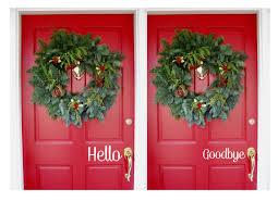Hello Goodbye Vinyl Door Decals On Storenvy