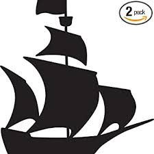 Amazon Com Nbfu Decals Pirate Ship Silhouette Black Set Of 2 Premium Waterproof Vinyl Decal Stickers For Laptop Phone Accessory Helmet Car Window Bumper Mug Tuber Cup Door Wall Decoration Automotive