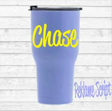 Personalize Name For Men Or Women Monogram Vinyl Decal For Your Tumbler Rambler