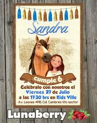Invitacion Cumpleanos Dreamworks Spirit Birthday Invitation