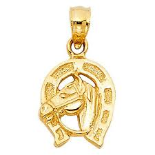 lucky horse head pendant necklace