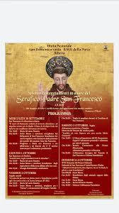 Ribera: Da oggi fino al 4 ottobre la festa di San Francesco d'Assisi