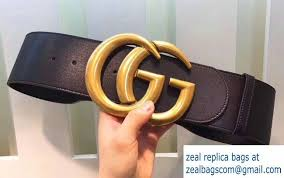 leather belt with double g buckle black