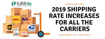 usps fedex increases for 2019