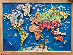 Bộ lắp ghép bản đồ thế giới bằng nam châm KLAP khổ A3 AGE02 - Gia ...