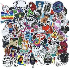 Amazon Com Cool Teens 100 Pieces Cool Stickers Pack Waterproof Funny Graffiti Stickers Decals For Laptop Bumper Bike Luggage Skateboard Helmet Car Phone Arts Crafts Sewing