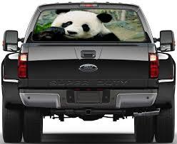 Panda Bear Animals Car Rear Window See Through Net Decal Decalz Co