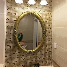 american retro oval bathroom mirror