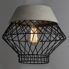 black gold wire cage frame 1 light