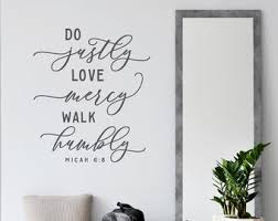 Micah 6 8 Wall Decal Etsy